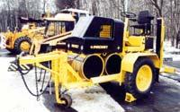 Одноосный прицеп завода «Раскат» для перевозки малогабаритного катка