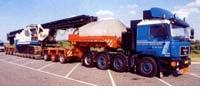 Для снижения нагрузки на седло тягача полуприцеп фирмы «Andover trailers» снабжен дополнительным передним модулем